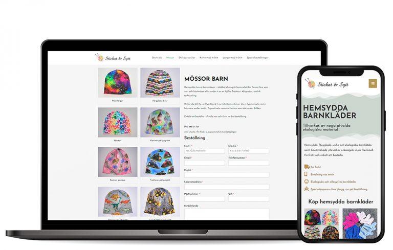 Kundcase e-handel Stickat & Sytt