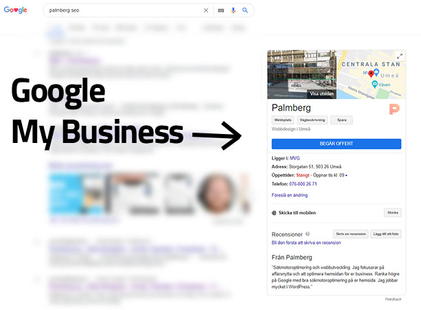 Min SEObyrå på Google My Business